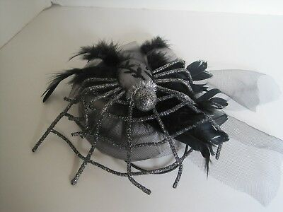 Katherine's Collection Halloween Hat with spider and glitter veil