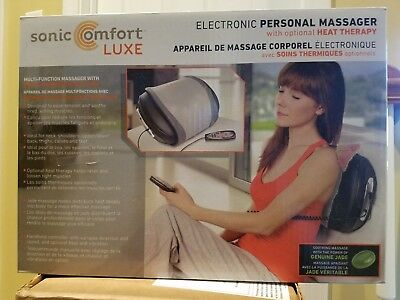 Sonic Comfort Luxe Electronic Personal Body Massager w/ Optional Heat Therapy