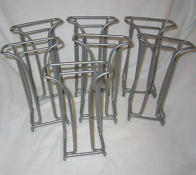Lot of 7 Tri-Fold Brochure Counter Top Gray Wire Display Stand Rack Literature