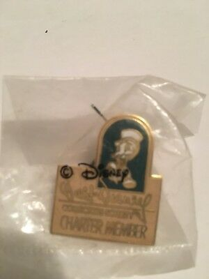 WDCC Disney CHARTER MEMBER Collector Society Pin Jiminy Cricket Original Pkg