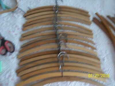 Vntg. Lot of 18 Wooden  Shirt Clothes Hangers ~ Crafts ~ Knit ~ Display ~