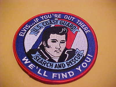 United States Coast Guard Elvis Search & Rescue Patch Big 4 1/2 X 4 1/2 Inch