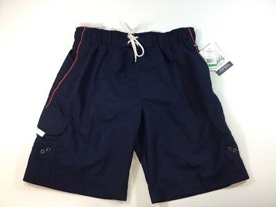 Trunks Surf and Swim Co James Swim Shorts  Size Large Navy Mesh Lined  NWT