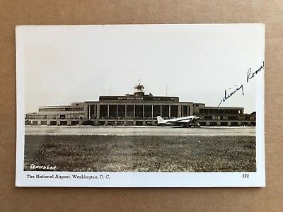 Vintage Postcard RPPC Washington DC National Airport