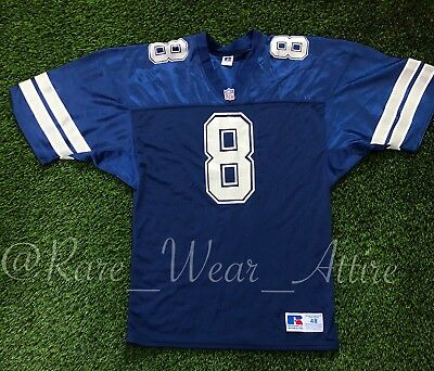 4e3a6a341 DALLAS COWBOYS  8 Russell Athletic Vintage Jersey Size 48 Nfl Aikman ...