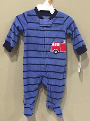 0f9141d1a3 CARTERS BABY BOY 18 Month Fleece Footed Sleeper Pajama Clothes Lot ...