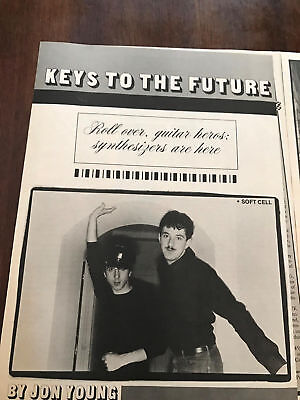1982 Vintage 6 Pg Article+Photos Keys To The Future Depeche Mode Soft Cell Omd++
