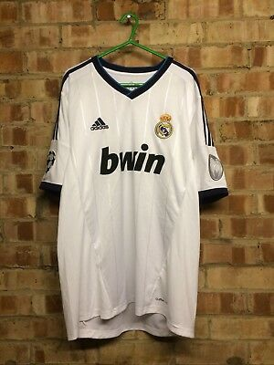4383d8da4 Real Madrid Champions League Home Football Shirt 2012 2013 Adult Large  Excellent