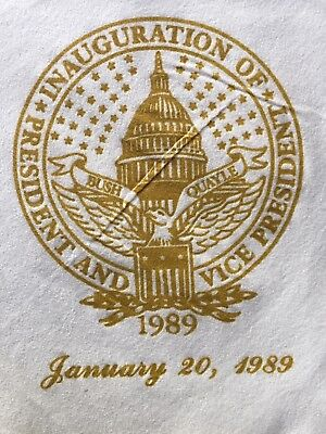 1989 Bush Quayle Presidential Inaugural Cocktail Napkins -  unused (set of 7)