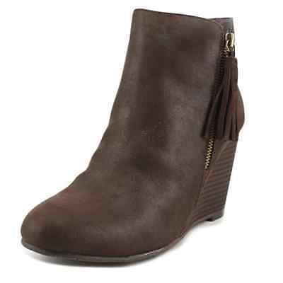 31b071d28188 Mia Womens Buckley Leather Closed Toe Ankle Fashion Boots