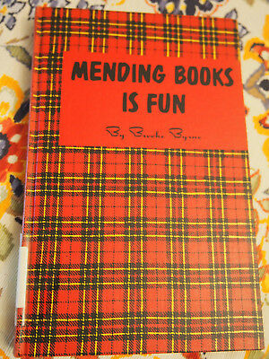 Mending Books is Fun by Brooke Byrne  HC  illustrated   1956  1st ed.
