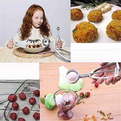 4/5/6cm Stainless Steel Ice Cream Mashed Potato Cookie Scoop Spring Handle