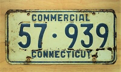1959 Connecticut Camp Tr.  License Plate Auto Vehicle Tag 1276