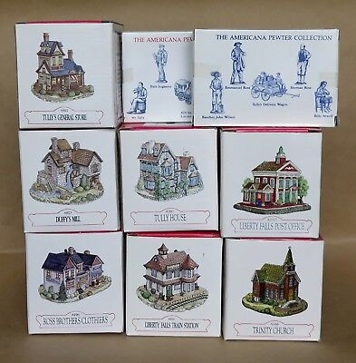 Liberty Falls ~ Lot of 7 Buildings & 2 Accessories  NEW, MINT IN BOXES  17 pcs