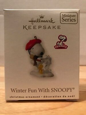 Hallmark Keepsake Ornament, Winter Fun With Snoopy, 2010, 13th in Series, NIB