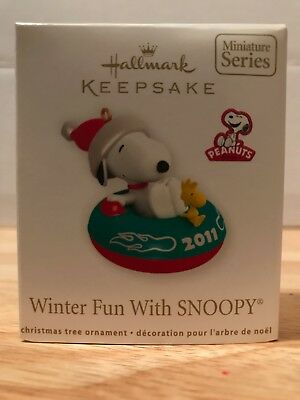 Hallmark Keepsake Ornament, Winter Fun With Snoopy, 2011, 14th in Series, NIB