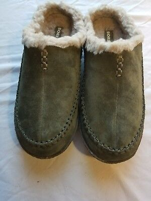 SOREL New Men's Falcon Ridge Suede Slide Moccasin Slippers US Size 11 With Box