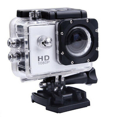 1080p HD Sports Action Camera 12MP 30m Waterproof Video 2-inch LCD 170 Degree