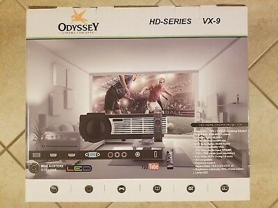 ODYSSEY CINEMA CONCEPTS VX-9 HD 4K 3D Home Theater Projector + 72in RT-90  Screen