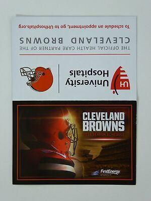 Cleveland Browns NFL Football Fold Out Pocket Schedule 2016
