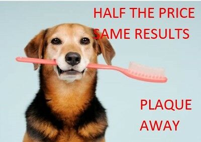 GETS PLAQUE OFF AWAY FOR DOGS 200g ***CHEAPEST ON EBAY*** DOG TEETH
