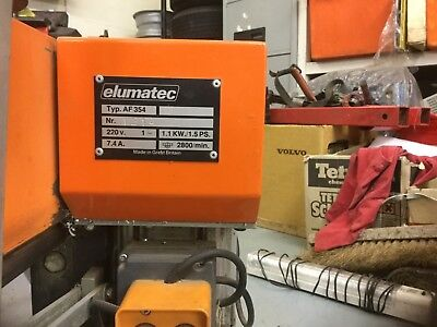ELUMATEC AF354 End Miller Excellent condition nearly new