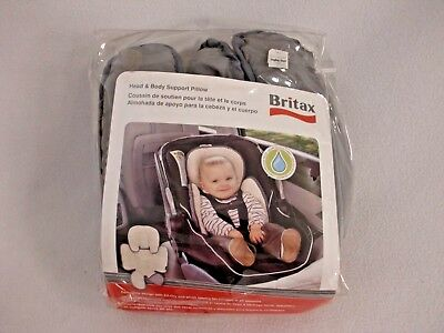 Nip Britax Head Body Support Pillow Gray Reversible Infant Car Seat Msrp $29.99