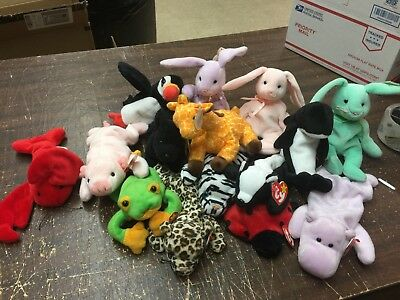 Lot of 15 Authentic TY Beanie Babies - Great Condition