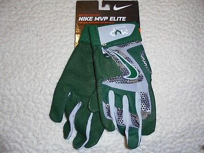 Nike Mvp Elite Adult Baseball Batting Glove Small Green/grey Gb0401-012