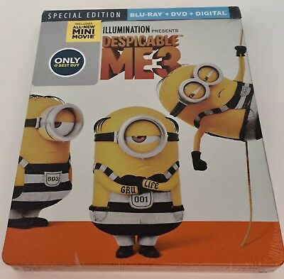 Brand New Sealed DESPICABLE ME 3 (BLU-RAY + DVD + DIGITAL HD, 2017)