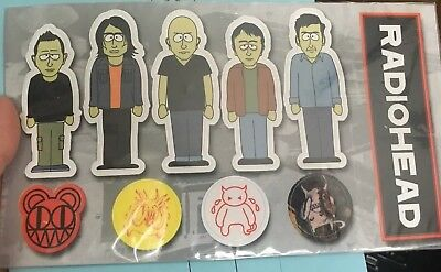 RADIOHEAD South Park Sticker Set 2001 I Might Be Wrong Live Promo Thom Yorke