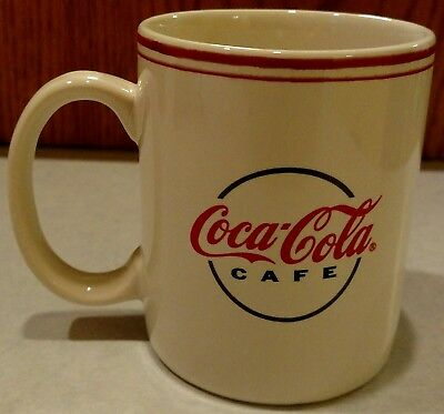 Coca Cola Cafe mug by Gibson coffee microwave safe white black red EUC
