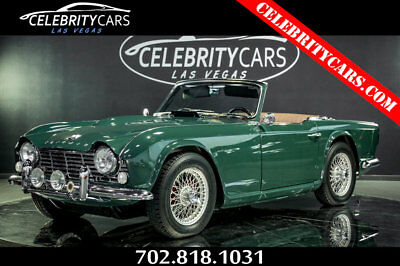 1965 Triumph TR4  1965 Triumph TR4 roadster fully restored 2 dr Convertible manual  RACING GREEN!