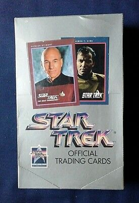 1991 Impel Star Trek Official Trading Cards Series 1 Sealed Trading Cards Box
