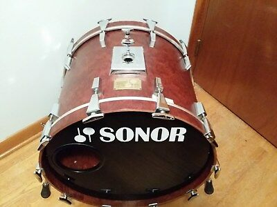 d982b82071a7 Rare Vintage Sonor Signature Lite 22 X 17 Birch Bass Drum Bubinga In out  Germany