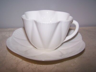 Beautiful Shelley Dainty White Cup And Saucer - Bone China England