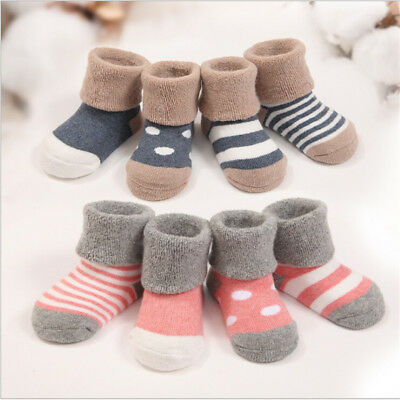 4 Pairs Baby Boy Girl Cartoon Cotton Socks NewBorn Infant Toddler Kids Soft Sock