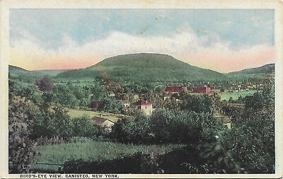 WB postcard, Bird's Eye View, Canisteo, New York