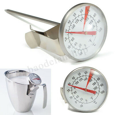 Stainless Steel Coffee Milk Frothing Probe Thermometer For Latte Cappuccino !
