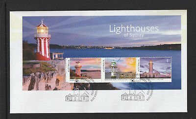 Australia 2018 : Lighthouses of Sydney - First Day Cover with Minisheet,
