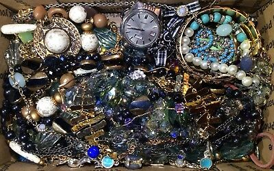 Huge Vintage - Now Jewelry Lot Estate Find Junk Drawer UNSEARCHED UNTESTED #603
