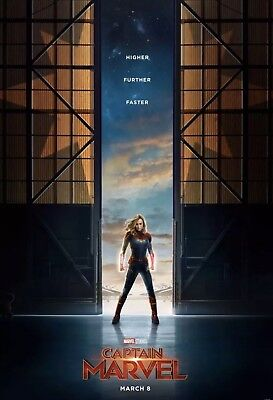 Marvel :: Captain Marvel :: Official Teaser 27x40 DS NEW One Sheet NEW