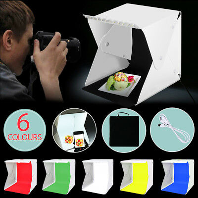 "LED Light Room Tent Photo Studio 16"" 40CM Photography Lighting Kit Mini Cube Box"