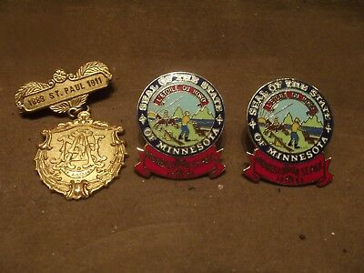 St. Paul Minnesota Pins ~ Lot of 3