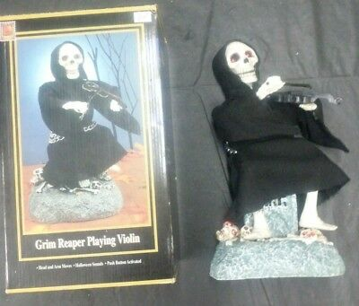 Gemmy Halloween 1997 Animated Grim Reaper Playing Violin Brand new in box!
