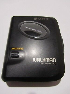 SONY WALKMAN WM-EX102 Cassette Player with Mega Bass **Parts or Repair Only**