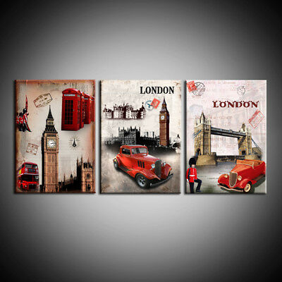 Modern Art Wall Canvas Print Painting London red bus picture Home Decorative Art
