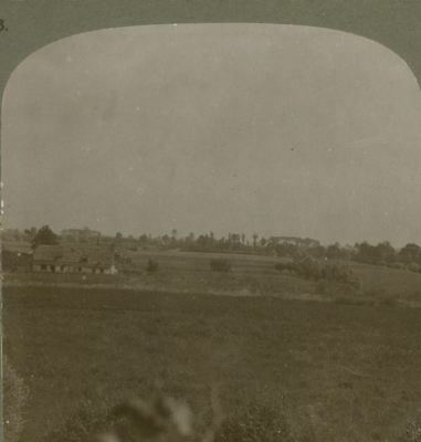 """""""No Mans Land"""" as seen from an artillery observation post - WW1 Stereoview"""
