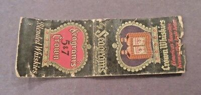 Seagram's Crown Whiskey Matchbook