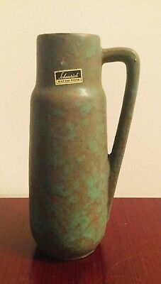 West German Pottery Henkelvase Scheurich Form 275-20 Vase green europ linie WGP